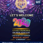 Grand Fireworks on New Year Evening 2020 | ASF City Karachi