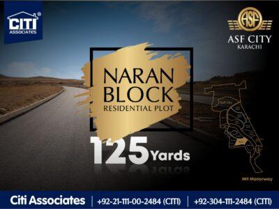 125 Yards Residential Plot for Sale in Naran Block | ASF City Karachi